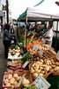 Vegetable stall in High Street Lymington Hampshire