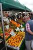 Fruit stall in Lymington High Street Hampshire