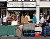 Silverware stall at Lymington High Street Hampshire