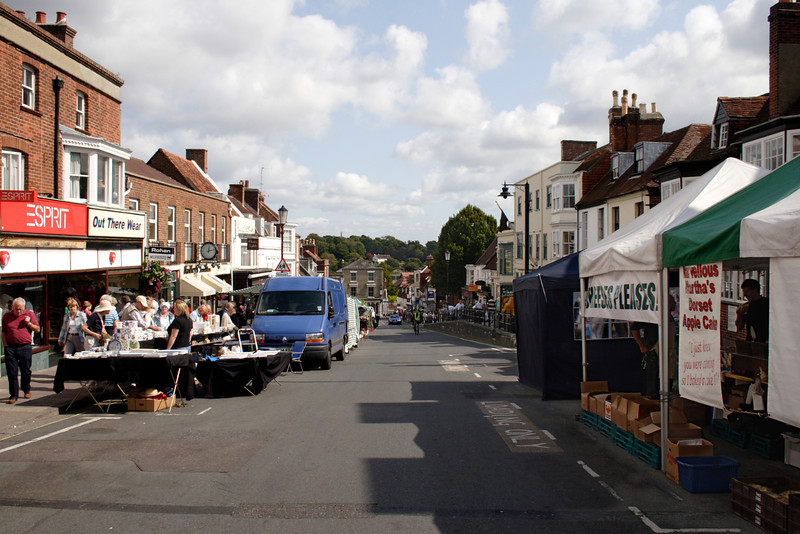 Street market at High Street Lymington