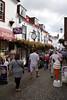 People walking through Quay Street Lymington Hampshire