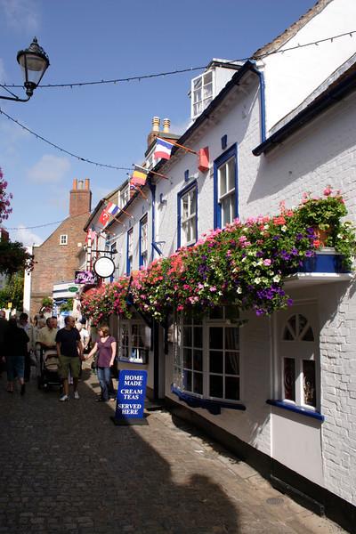 The Bluebird fresh seafood Restaurant Quay Street Lymington Hampshire