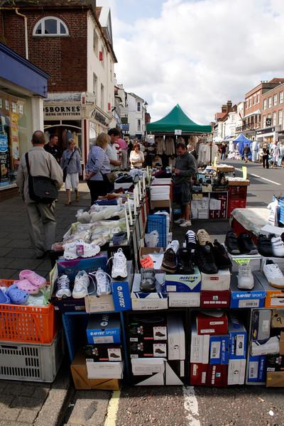 Street Market at High Street Lymington Hampshire