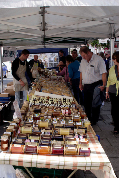 Jams and pickles stall at Street Market in Lymington September 2009