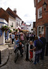 People shopping at Quay Street Lymington Hampshire