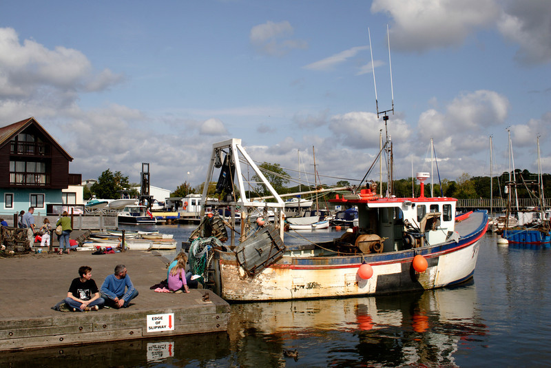 Fishing boat at Lymington harbour Hampshire