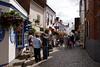 People shopping at Quay Street Lymington Hampshire