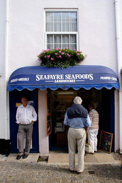 Seafayre Seafoods Sandwiches Bar at Quay Street Lymington Hampshire