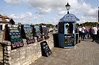 Ferry and cruise ticket kiosk at Lymington Harbour