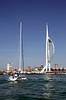 Yacht and Spinnaker Tower Portsmouth Hampshire