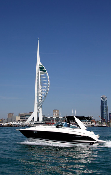Motor Boat and Spinnaker Tower Portsmouth Hampshire
