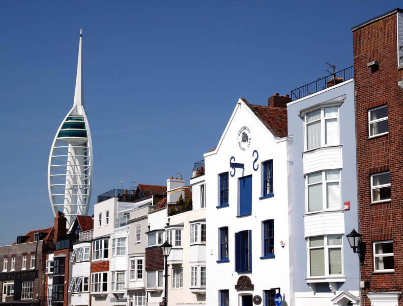 Broad Street and Spinnaker Tower Old Portsmouth Hampshire