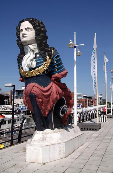 Ship Figurehead Gunwharf Quays Portsmouth Hampshire