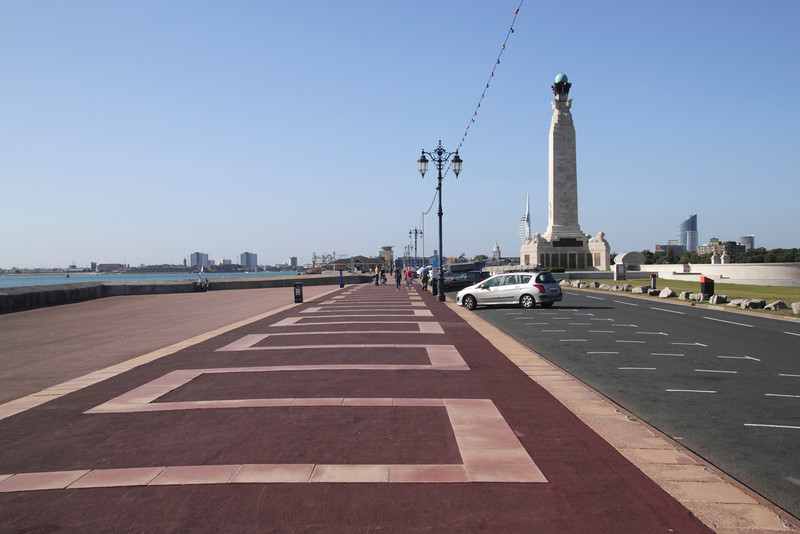 Clarence Esplanade at Southsea seafront Portsmouth Hampshire