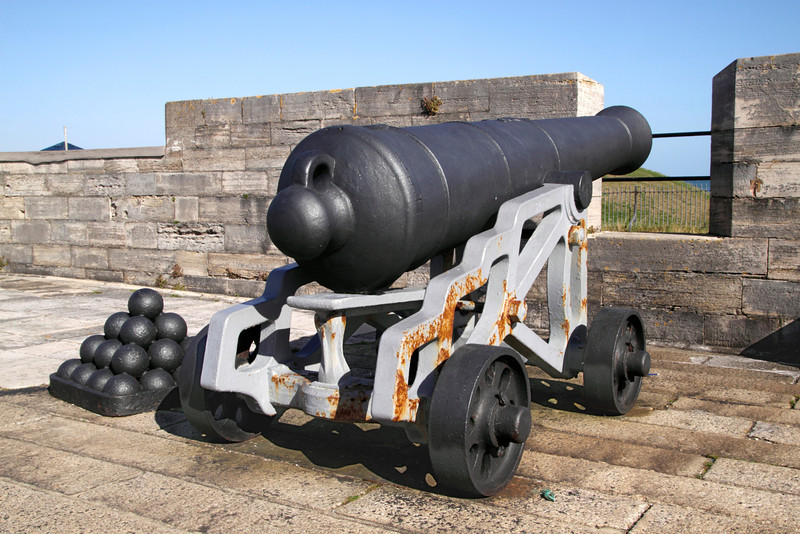 Canon on Southsea Castle Portsmouth Hampshire