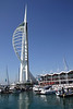 Gunwharf Quays Marina and Spinnaker Tower Portsmouth