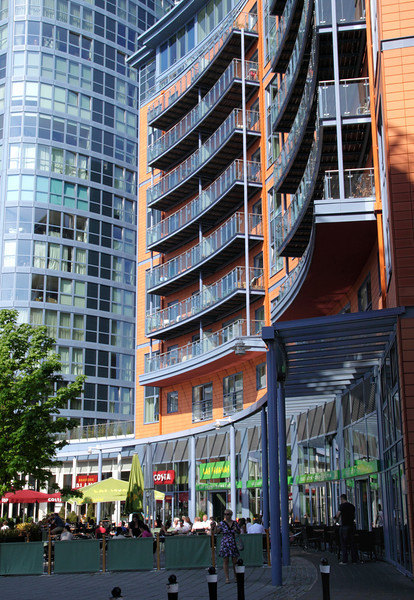 The Crescent apartments and Las Iguanas Restaurant Portsmouth
