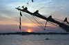Rigging and sunset Portsmouth Hampshire