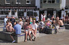 People drinking at the waterfront Old Portsmouth Hampshire