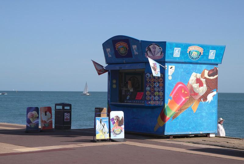 Ice Cream Kiosk Southsea Beach Portsmouth Hampshire