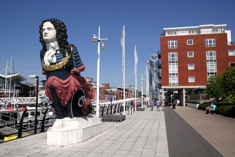Ship Figurehead Gunwharf Quays Portsmouth Hampshire