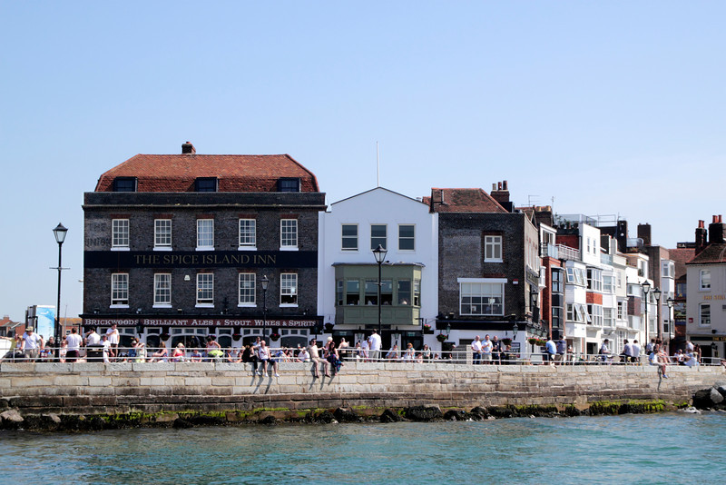 Old Portsmouth seafront Hampshire
