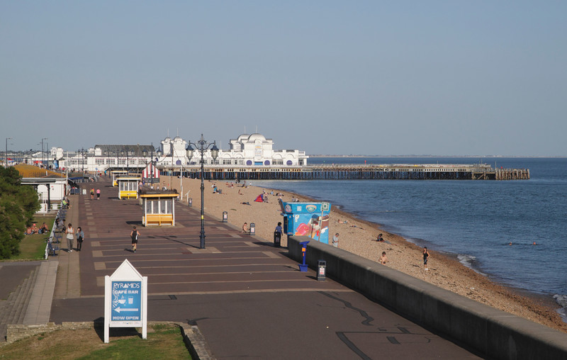 Promenade and South Parade Pier Southsea Beach Portsmouth Hampshire