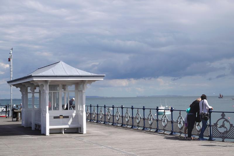 Head of Swanage Pier Dorset England