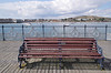 Bench on Swanage Pier Dorset England