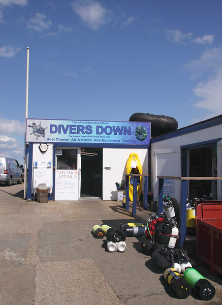 Divers Down scuba diving school Swanage Dorset England