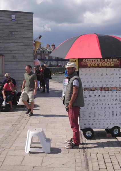 Seafront vendor Swanage Dorset England