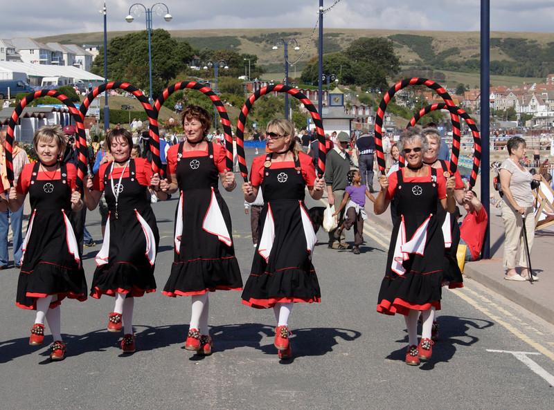 Morris dancers at Swanage Dorset