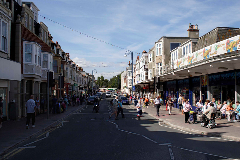 Street in Swanage Dorset September 2009