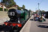 GWR 062 Tank steam locomotive at Swanage railway station Dorset