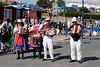 Morris Dancers band at Swanage Dorset