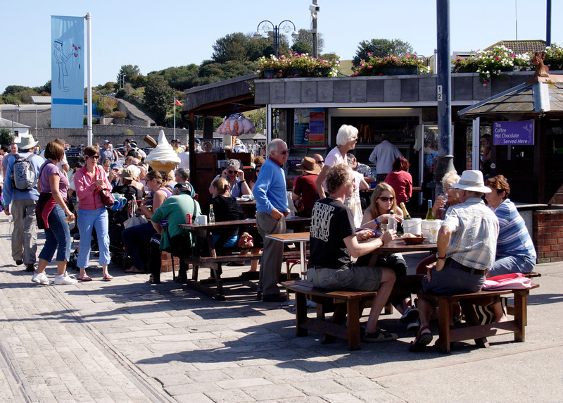 Cafe at Swanage seafront Dorset
