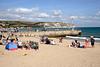 Beach and jetty at Swanage Dorset