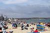 Sunbathers at Weymouth Beach Dorset summer 2010