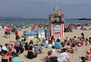 Punch and Judy show Weymouth beach Dorset August 2010