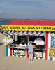 Ice Cream and Candy Floss kiosk at Weymouth beach summer 2010