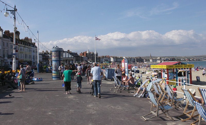 The Esplanade seafront at Weymouth Dorset summer 2010
