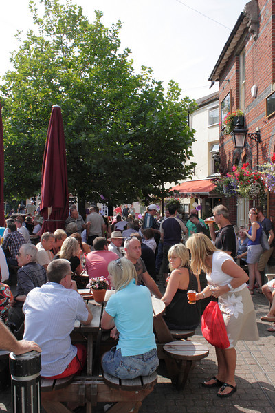 Beer Garden of The Red Lion Pub Weymouth summer 2010