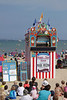 Punch and Judy show Weymouth beach Dorset August 2010