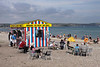 Ice Cream and Hot Food kiosk at Weymouth beach Dorset August 2010