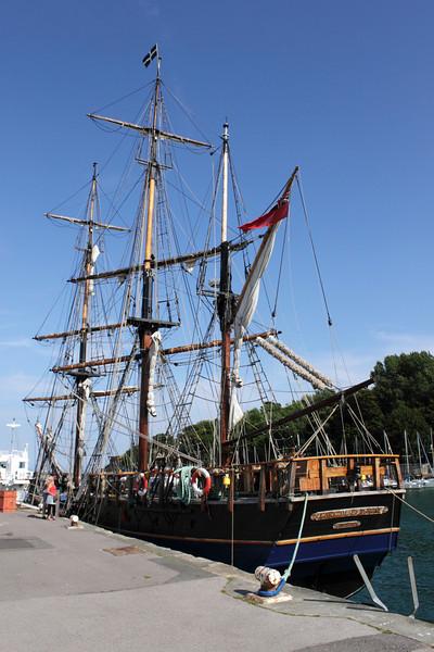 Earl of Pembroke 3 mast sailship Weymouth harbour Dorset