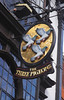 The Three Pigeons Pub sign High Street Guildford Surrey