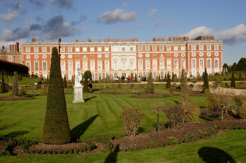Hampton Court Palace Surrey view from The Privy Garden