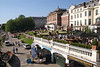 Riverside and terrace of Pitcher and Piano bar Richmond Upon Thames Surrey