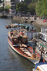 Queen's Royal Barge 'Gloriana' moored at Richmond Upon Thames Surrey 2012