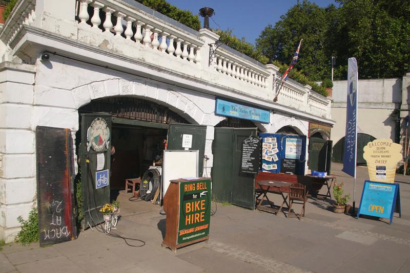 Blazing Saddles Bike Hire Stall at Richmond upon Thames Surrey